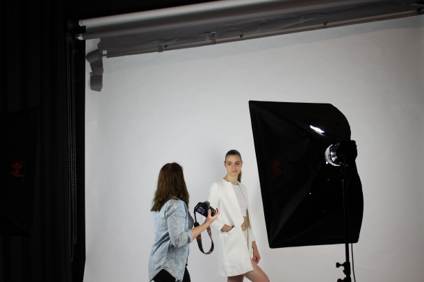 Backstage fashionshoot