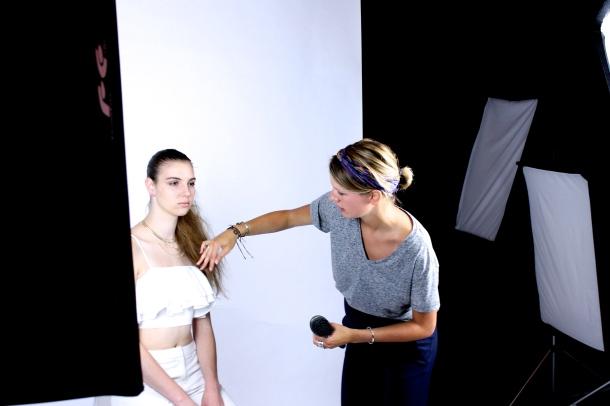 Backstage fashionshoot
