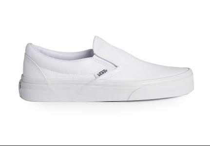 White Vans Slip Ons